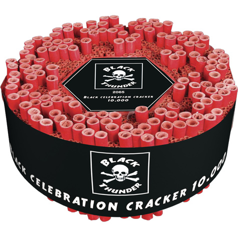 10.000 Black Celebration Cracker  - Knalvuurwerk