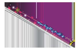 Grond en siervuurwerk Sterretjes 70cm