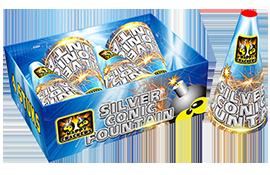 Kindervuurwerk Silver conic fountain